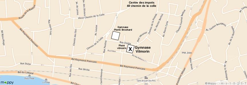Map Gymnase Vilmorin